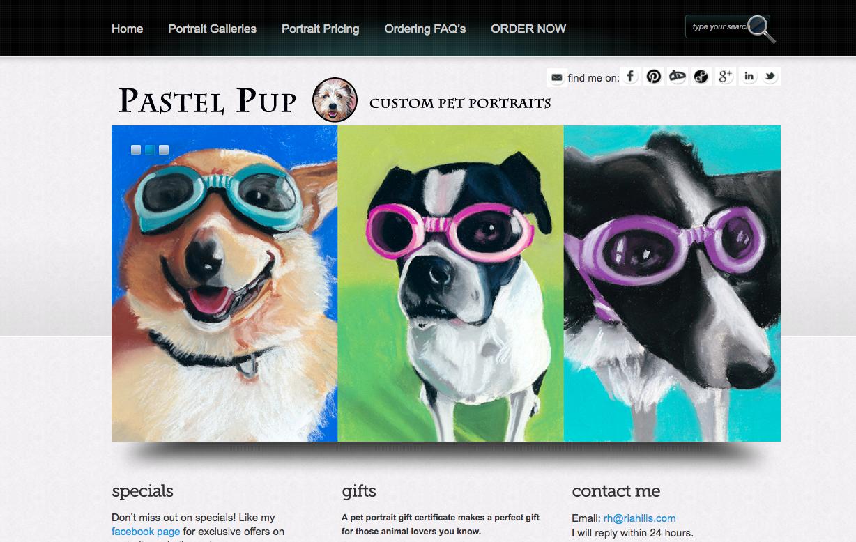 Custom pet portraits website